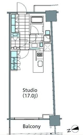 パークハビオ新宿イーストサイドタワー / 1810 部屋画像1