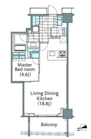 パークハビオ新宿イーストサイドタワー / 15階 部屋画像1