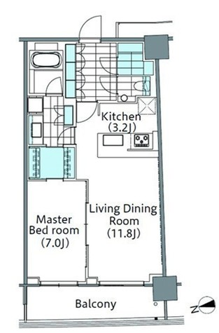 パークハビオ新宿イーストサイドタワー / 24階 部屋画像1