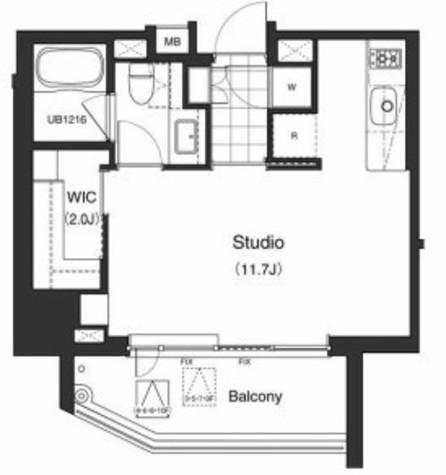 アパートメンツタワー六本木 / 6階 部屋画像1