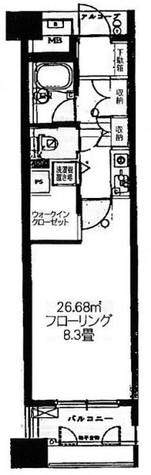 エフローレ日本橋 / 6階 部屋画像1