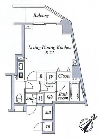 セントラルクリブ六本木Ⅱ / 1005 部屋画像1