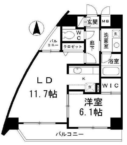 グレンパーク池田山 / 201 部屋画像1