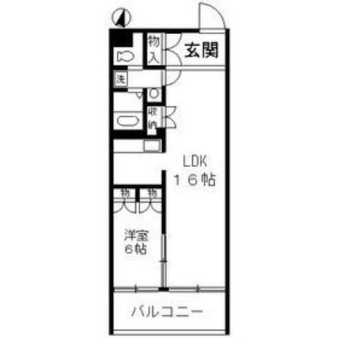 新馬場 6分マンション / 2階 部屋画像1