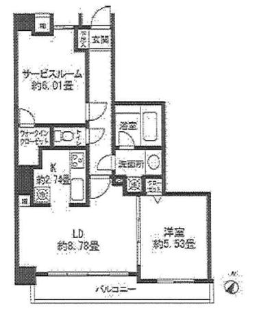 レジディア三軒茶屋Ⅱ / 1階 部屋画像1