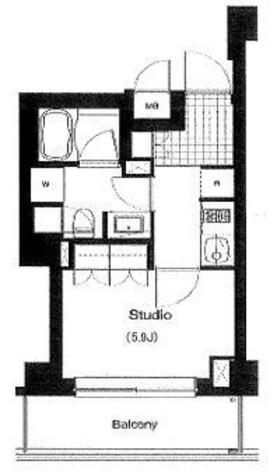 プライムアーバン麻布霞町(旧アパートメンツ麻布霞町) / 2階 部屋画像1