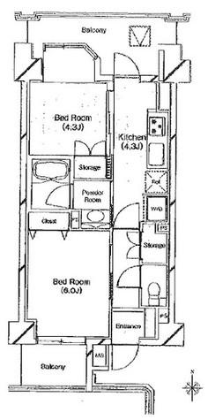 ベラカーサ池之端 / 4階 部屋画像1