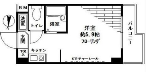 スカイコート文京小石川 / 203 部屋画像1