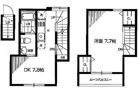 祐天寺 3分テラスハウス / 203 部屋画像1