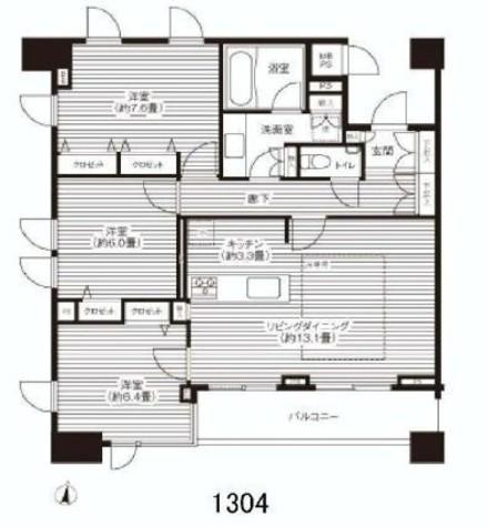 HF白金高輪レジデンス(旧ランドステージ白金高輪) / 1304 部屋画像1