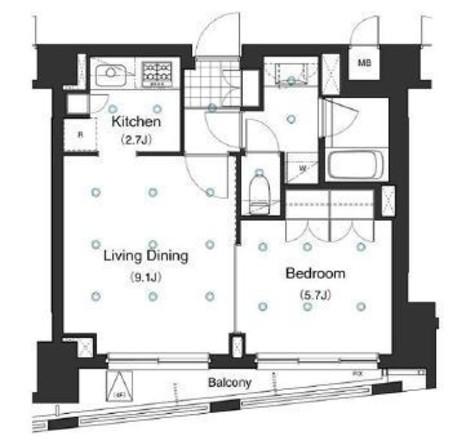 アパートメンツ白金三光坂 / 4階 部屋画像1