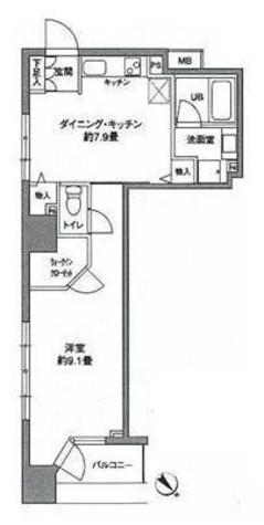 KWレジデンス新川 / 9階 部屋画像1