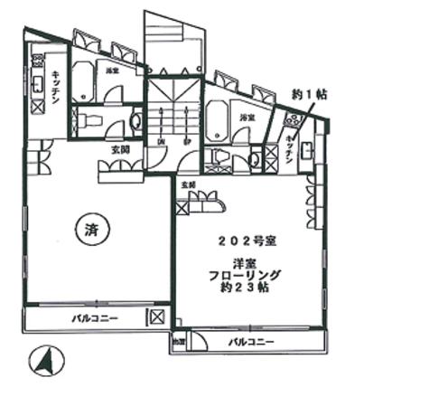 目黒アスコット / 2階 部屋画像1