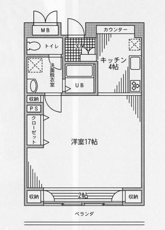 レジディア芝浦(旧パシフィックレジデンス芝浦) / 1509 部屋画像1