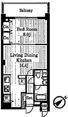スペーシア恵比寿 / 412 部屋画像1