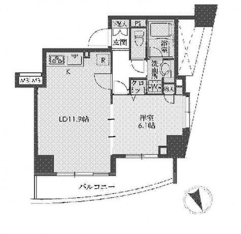 アーバネックス戸越銀座(旧:ステイシス戸越銀座) / 3階 部屋画像1