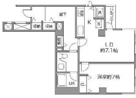 石川台 4分マンション / 4階 部屋画像1