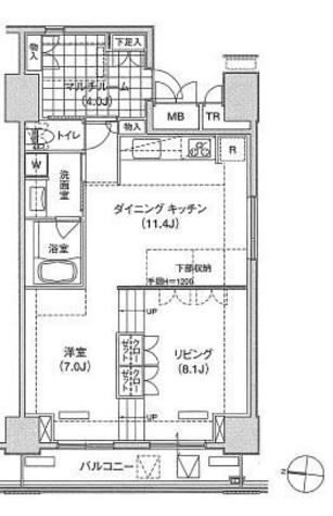 辰巳 11分マンション / 2階 部屋画像1