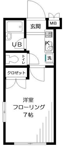 シャルレ早稲田 / 2階 部屋画像1