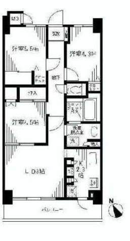 マイキャッスル武蔵小山 / 3階 部屋画像1