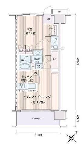 豊洲レジデンスC棟 / 9階 部屋画像1