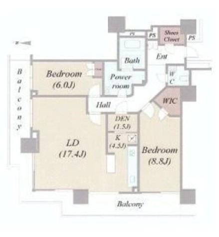 ベイクレストタワー / 3402 部屋画像1