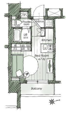 レジディア市谷薬王寺 / 11階 部屋画像1