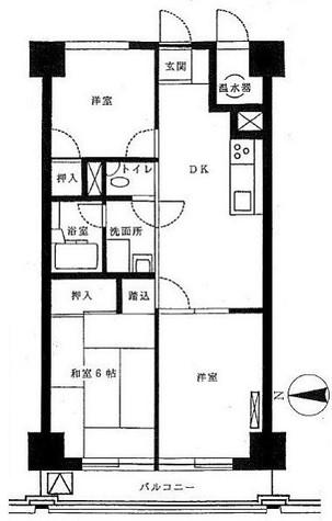 ライオンズマンション初台 / 6階 部屋画像1