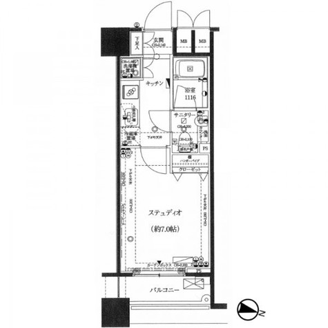 ファーストリアルタワー新宿(旧プロスペクト・アクス・ザ・タワー新宿) / 1013 部屋画像1
