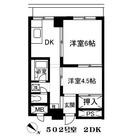 中洲エスケーハイツ / 502 部屋画像1