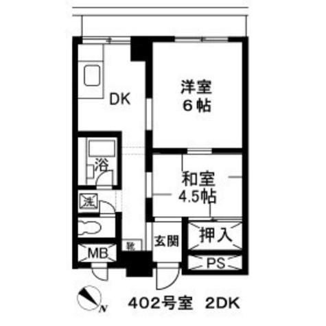 中洲エスケーハイツ / 4階 部屋画像1