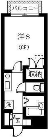 1K(バス・トイレ別)