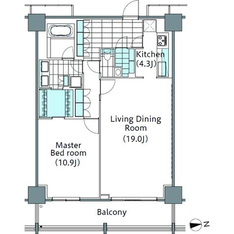 パークハビオ新宿イーストサイドタワー / 29階 部屋画像1