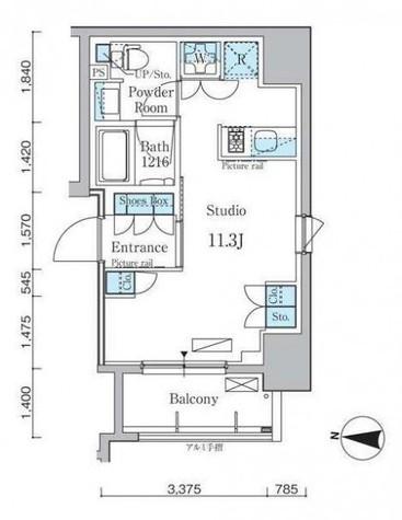 パークアクシス日本橋本町 / 9階 部屋画像1