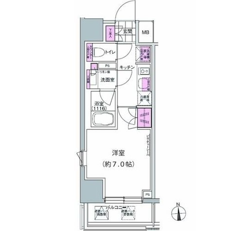 プレジリア東日本橋 / 2階 部屋画像1