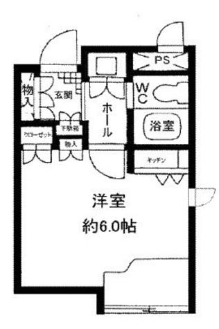 原宿東急アパートメント / 308 部屋画像1
