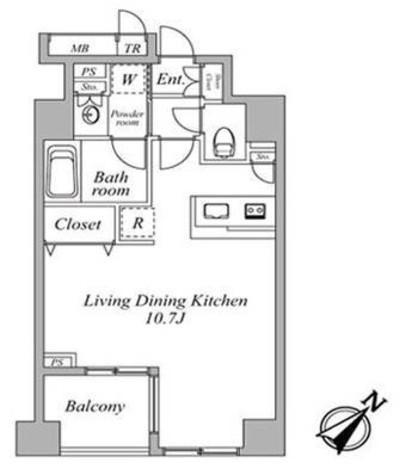 セントラルクリブ六本木Ⅱ / 403 部屋画像1