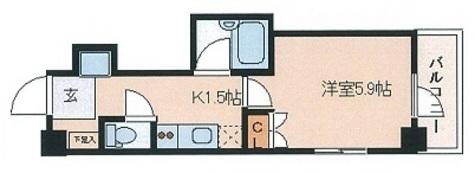レジディア文京湯島Ⅱ / 705 部屋画像1