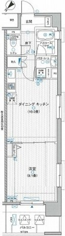 LA.PRYLE新横浜(エルエープライル新横浜) / 1119 部屋画像1