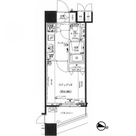ファーストリアルタワー新宿(旧プロスペクト・アクス・ザ・タワー新宿) / 11階 部屋画像1