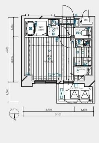 木場 2分マンション / 3階 部屋画像1