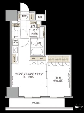 御徒町 3分マンション / 11階 部屋画像1