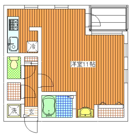 パティオ自由が丘(奥沢5) / 3階 部屋画像1
