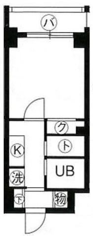 スカイコート月島 / 2階 部屋画像1
