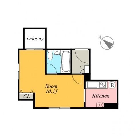 HF三田レジデンス(旧シングルレジデンス三田) / 3階 部屋画像1