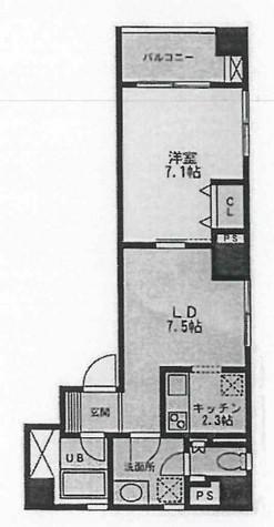 スクエアードコート日本橋人形町 / 2階 部屋画像1