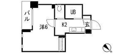 スカイコート文京白山第2 / 3階 部屋画像1