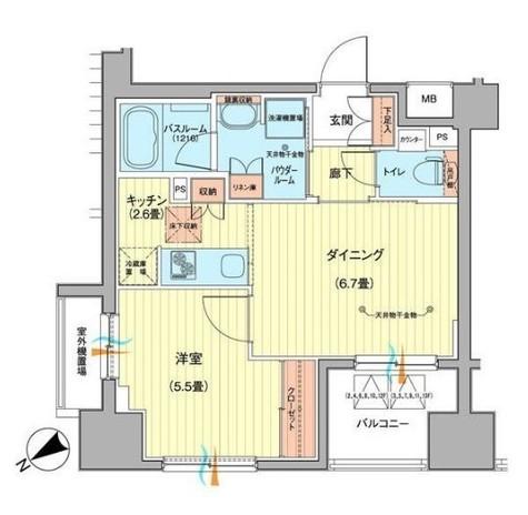 日神パレステージ大森町 / 13階 部屋画像1