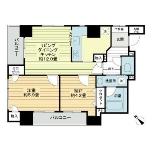 飯田橋 5分マンション / 5階 部屋画像1
