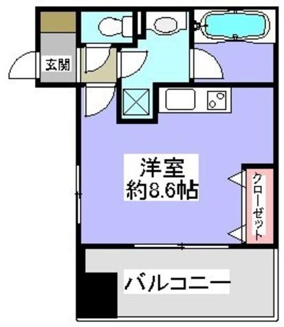 神保町 3分マンション / 7階 部屋画像1